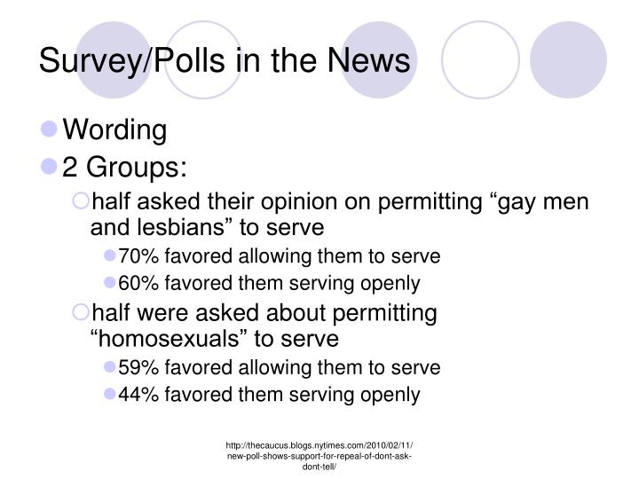Survey/Polls in the News
