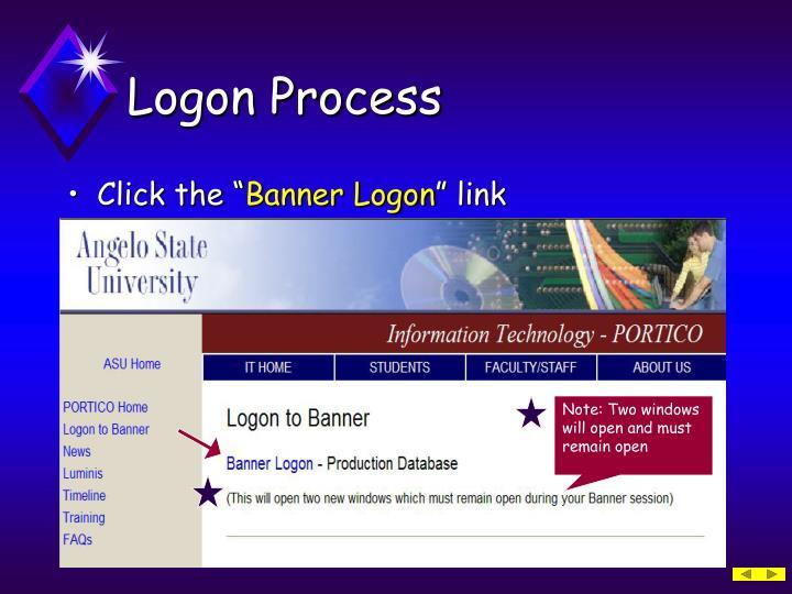 Logon Process
