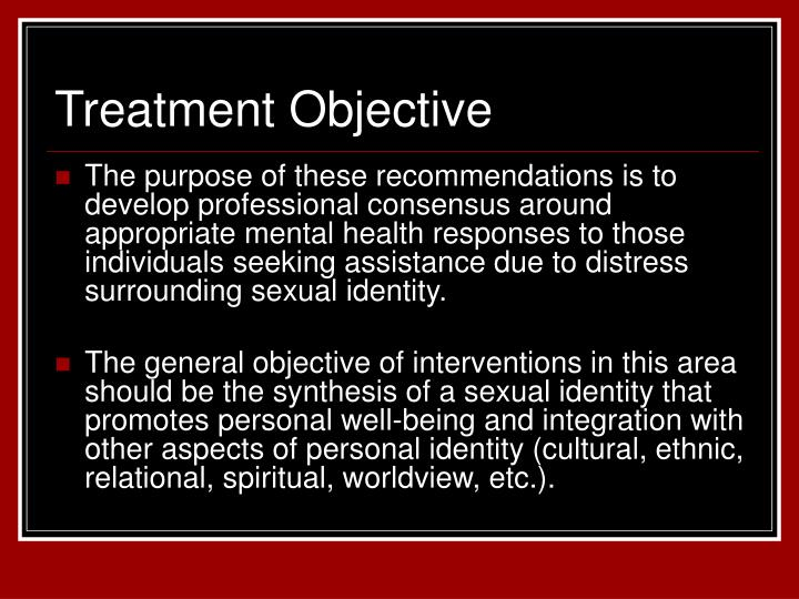 Treatment Objective