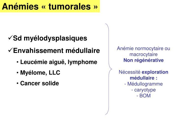 Anémies «tumorales»