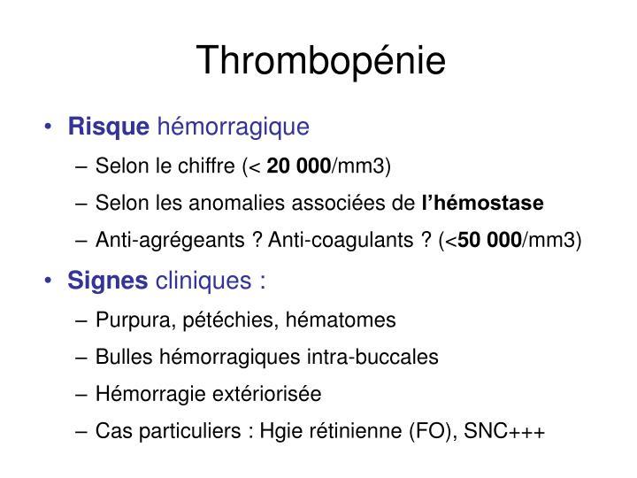 Thrombopénie