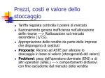 prezzi costi e valore dello stoccaggio