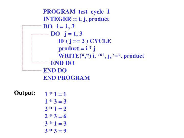 PROGRAM  test_cycle_1