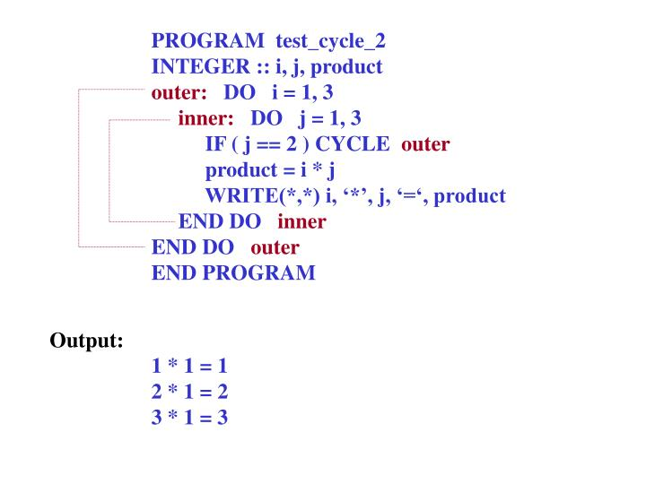 PROGRAM  test_cycle_2