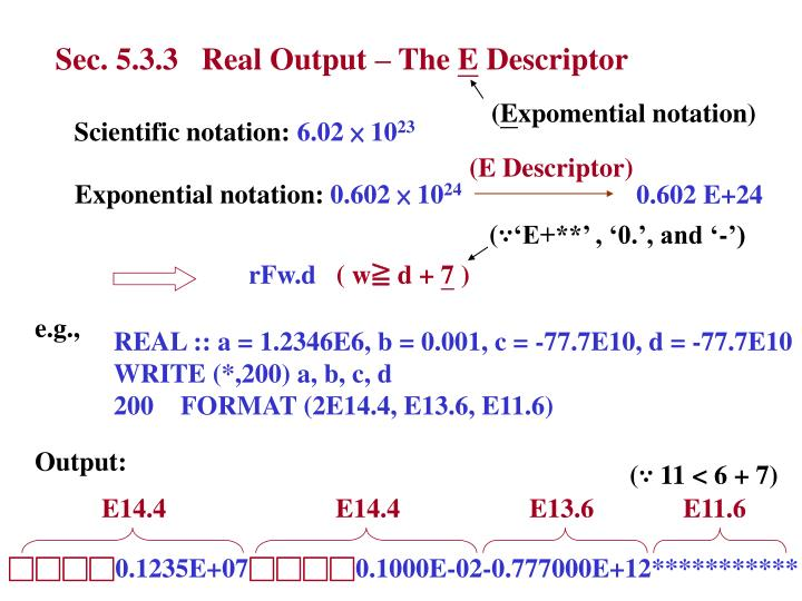 Sec. 5.3.3   Real Output – The