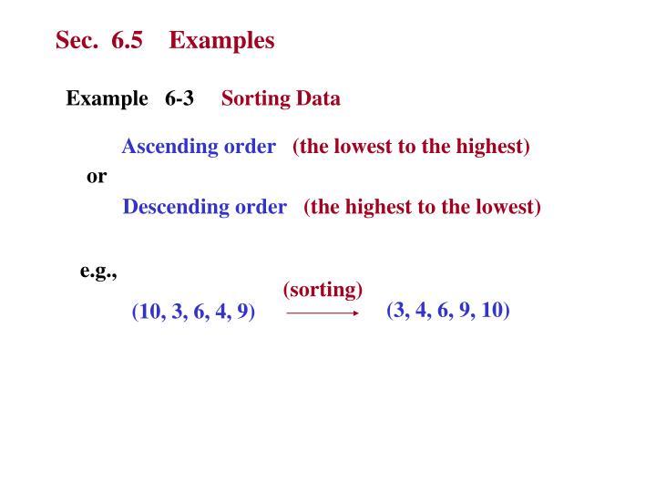 Sec.  6.5    Examples