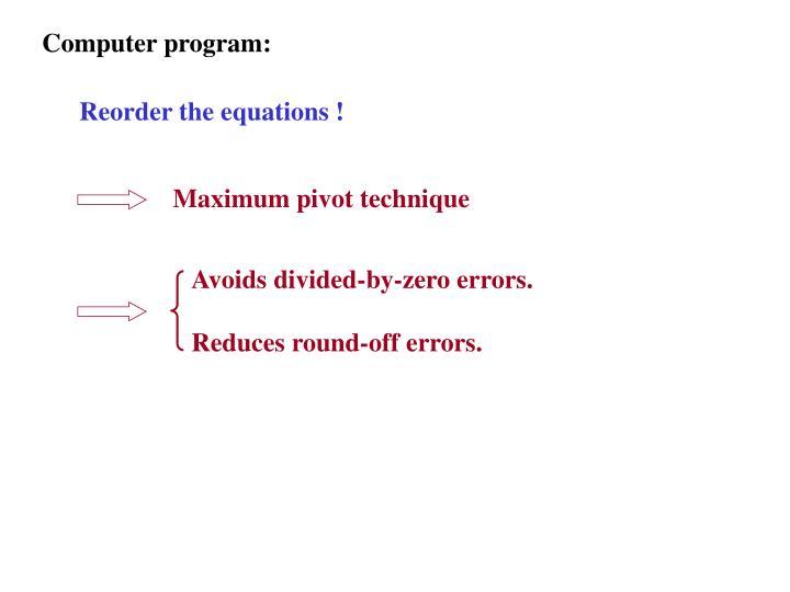 Computer program: