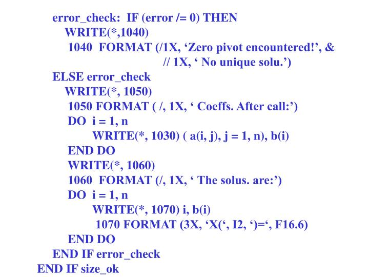 error_check:  IF (error /= 0) THEN