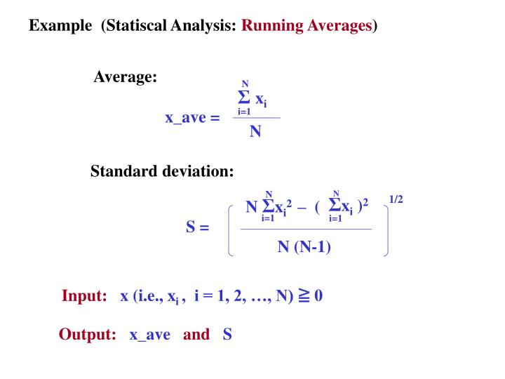 Example  (Statiscal Analysis: