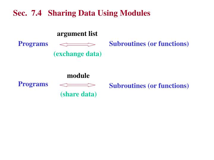 Sec.  7.4   Sharing Data Using Modules