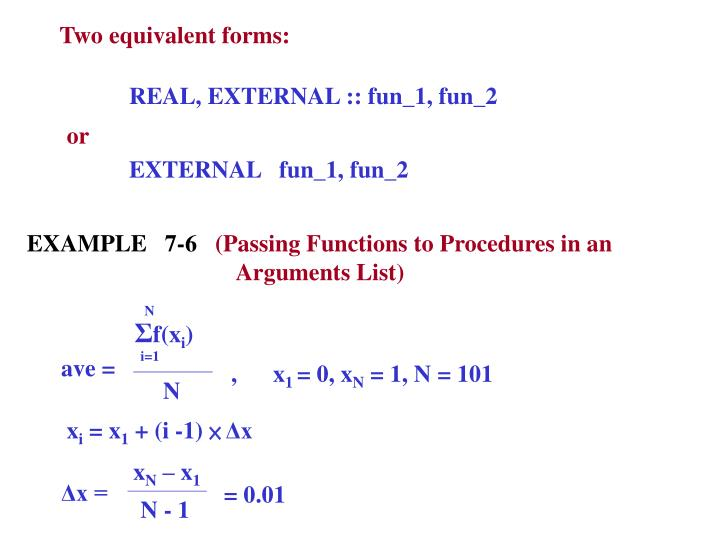 Two equivalent forms: