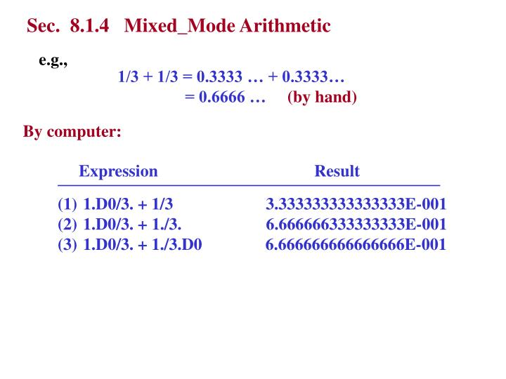 Sec.  8.1.4   Mixed_Mode Arithmetic