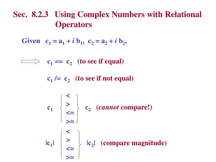 Sec.  8.2.3   Using Complex Numbers with Relational