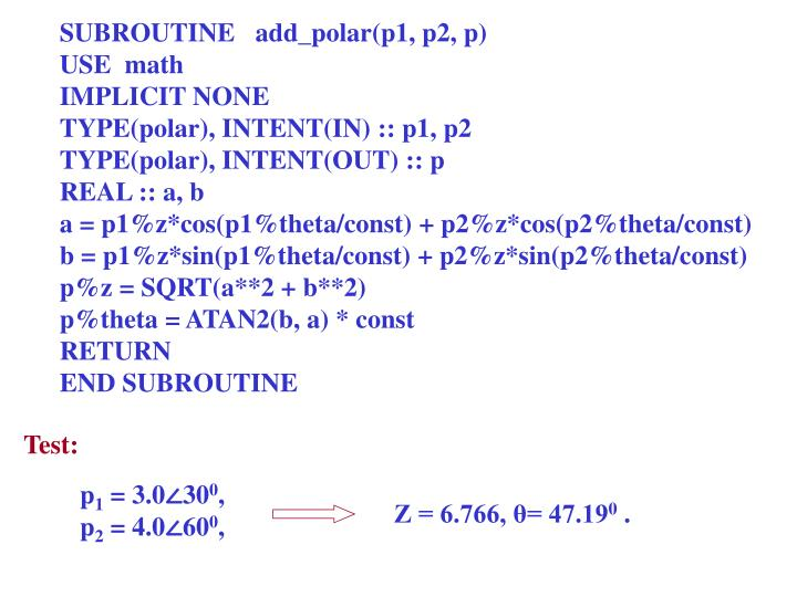 SUBROUTINE   add_polar(p1, p2, p)