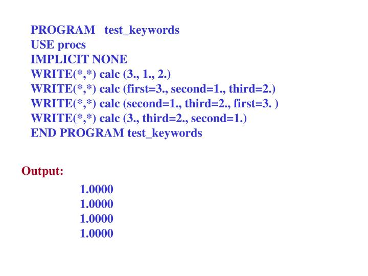PROGRAM   test_keywords