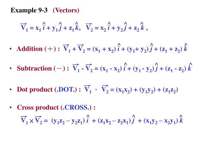 Example 9-3