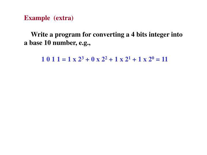 Example  (extra)