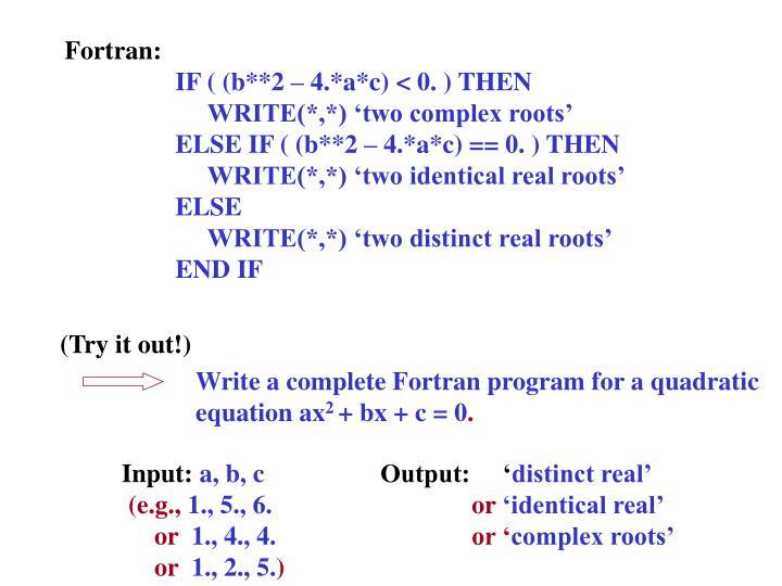 Fortran: