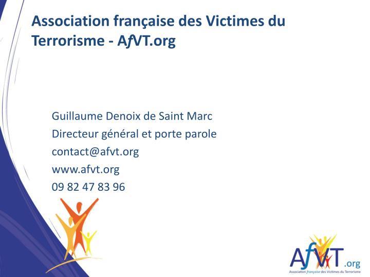 Association française des Victimes du Terrorisme - A