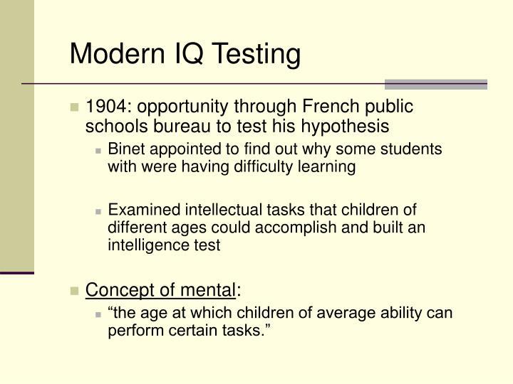 Modern IQ Testing