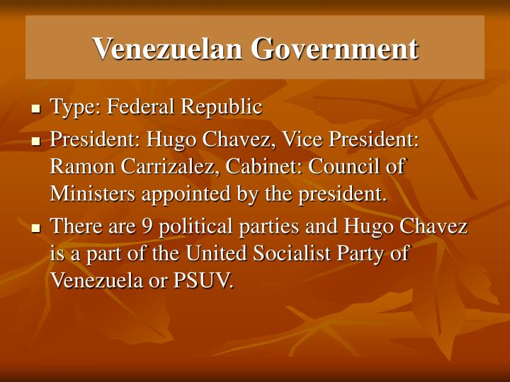 Venezuelan government