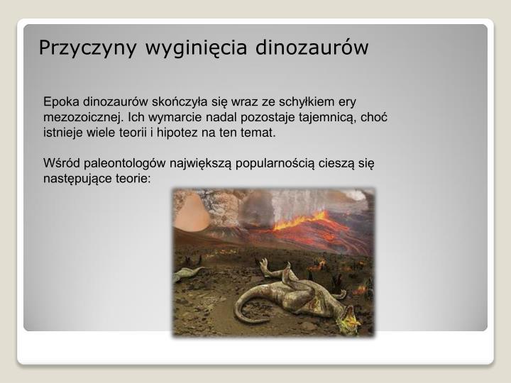 Przyczyny wyginięcia dinozaurów
