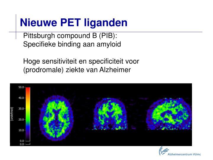 Nieuwe PET liganden