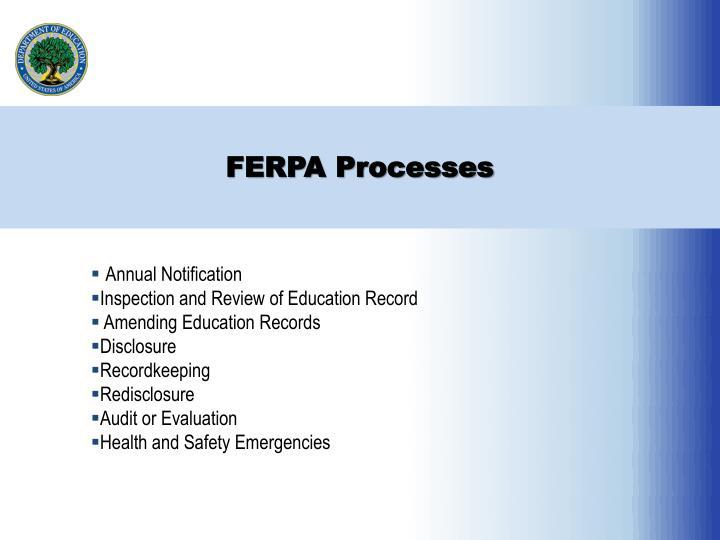 FERPA Processes