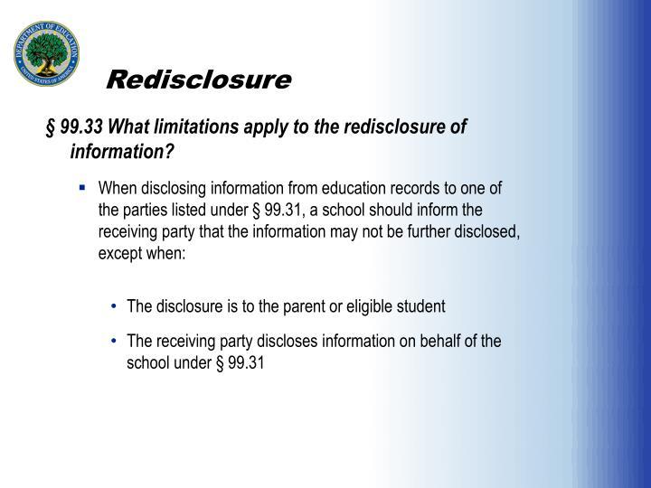 Redisclosure