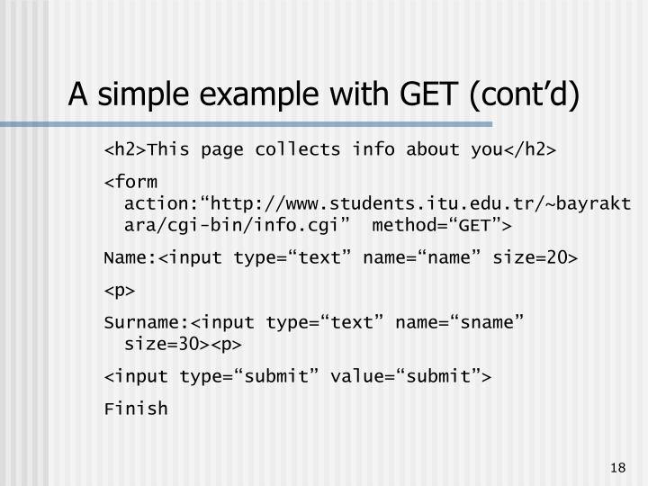 A simple example with GET