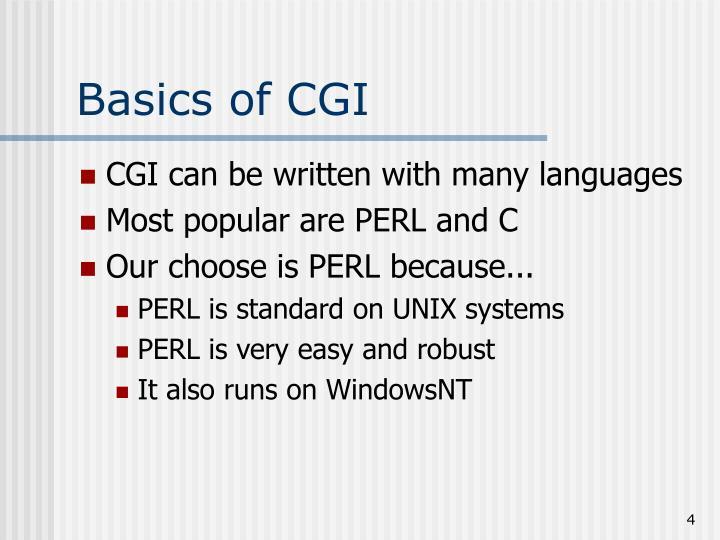 Basics of CGI