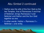 abu simbel 2 continued