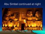 abu simbel continued at night