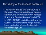 the valley of the queens continued