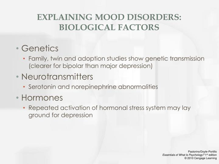 women and depression biological factors Negative lifestyle factors that can contribute to a depressive episode or drag one  out include:  our level of exposure to some of these environmental factors is  partially under our control  biology, psychology and sociology  response to  ect in depressive disorder 1 in 20 younger women suffers major depression .