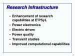 research infrastructure