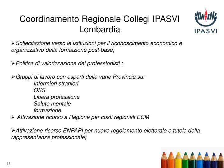 Coordinamento Regionale Collegi IPASVI Lombardia