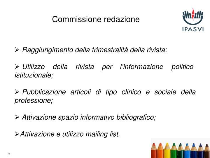 Commissione redazione