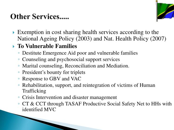 Other Services.....