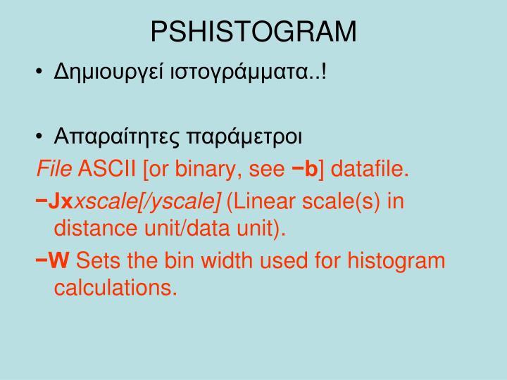 PSHISTOGRAM