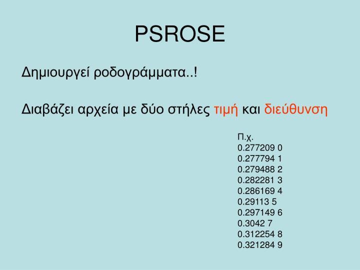 PSROSE