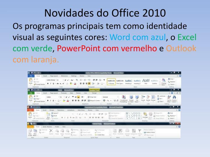 Novidades do Office 2010