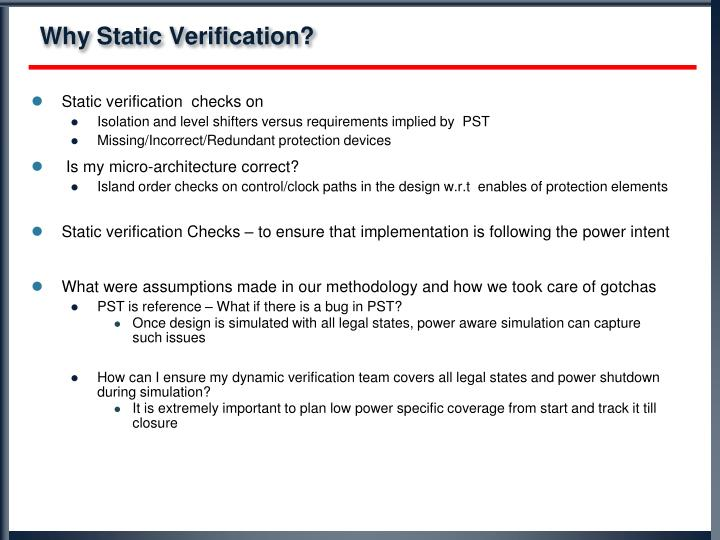 Why Static Verification?
