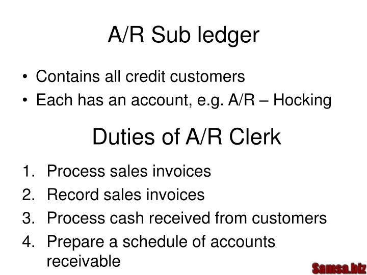 A/R Sub ledger