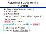 returning a value from a function1