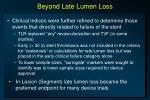 beyond late lumen loss
