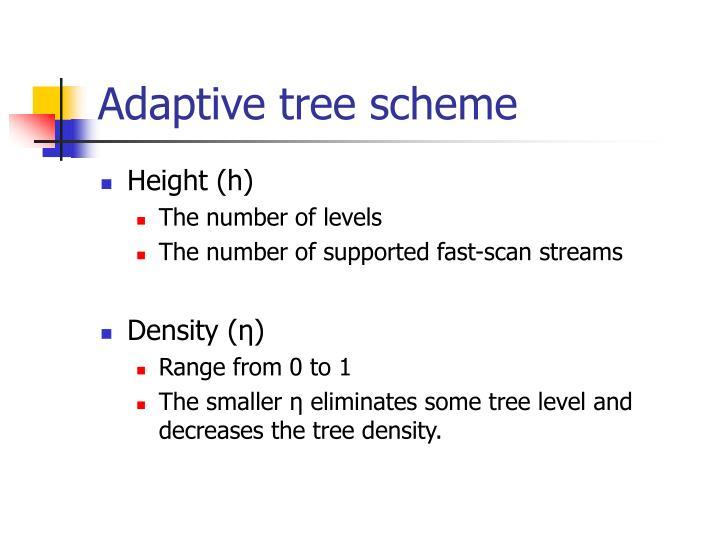 Adaptive tree scheme