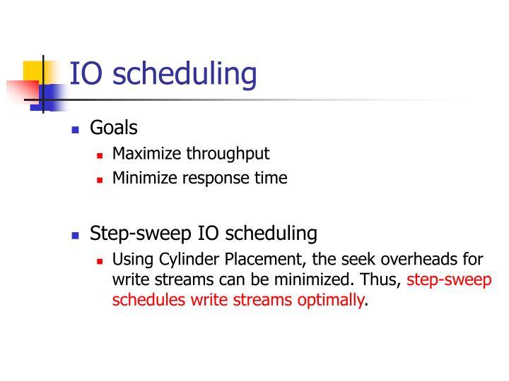 IO scheduling