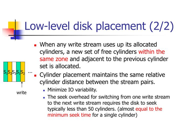 Low-level disk placement (2/2)
