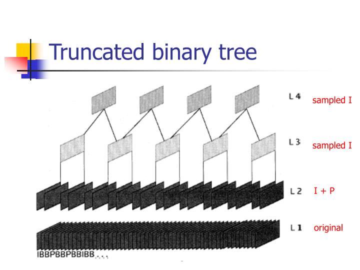 Truncated binary tree